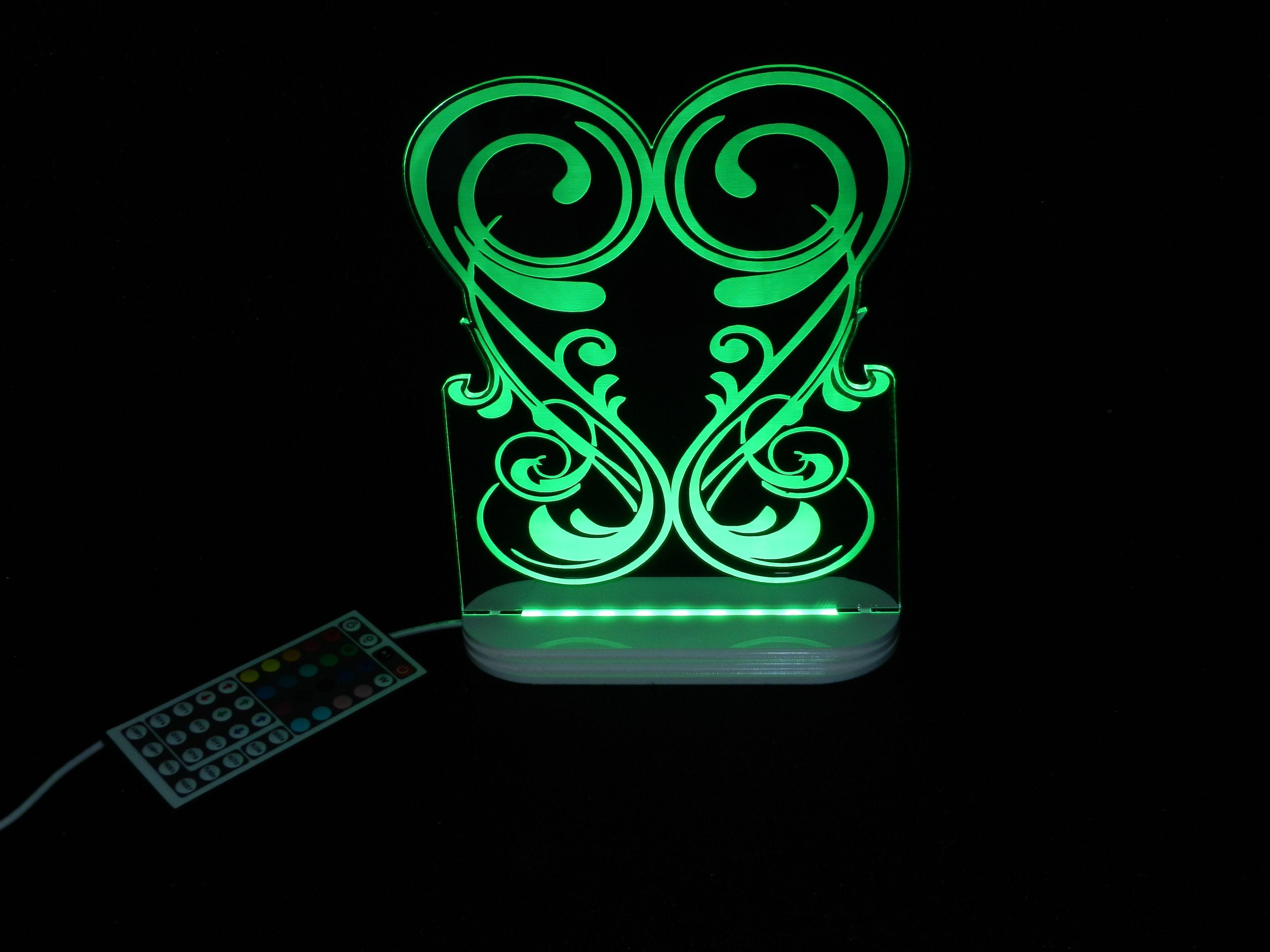 led design led nachtlicht mit wechselcover motive f r erwachsene. Black Bedroom Furniture Sets. Home Design Ideas
